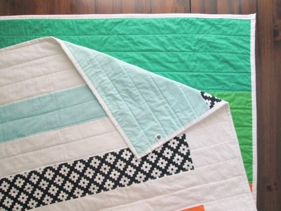 The Over/Under Quilt - Modern Stripe Quilt