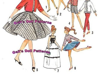 Barbie Wardrobe Pattern #2 for Barbie and other Fashion Dolls