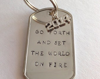 Go Forth Graduation Keychain