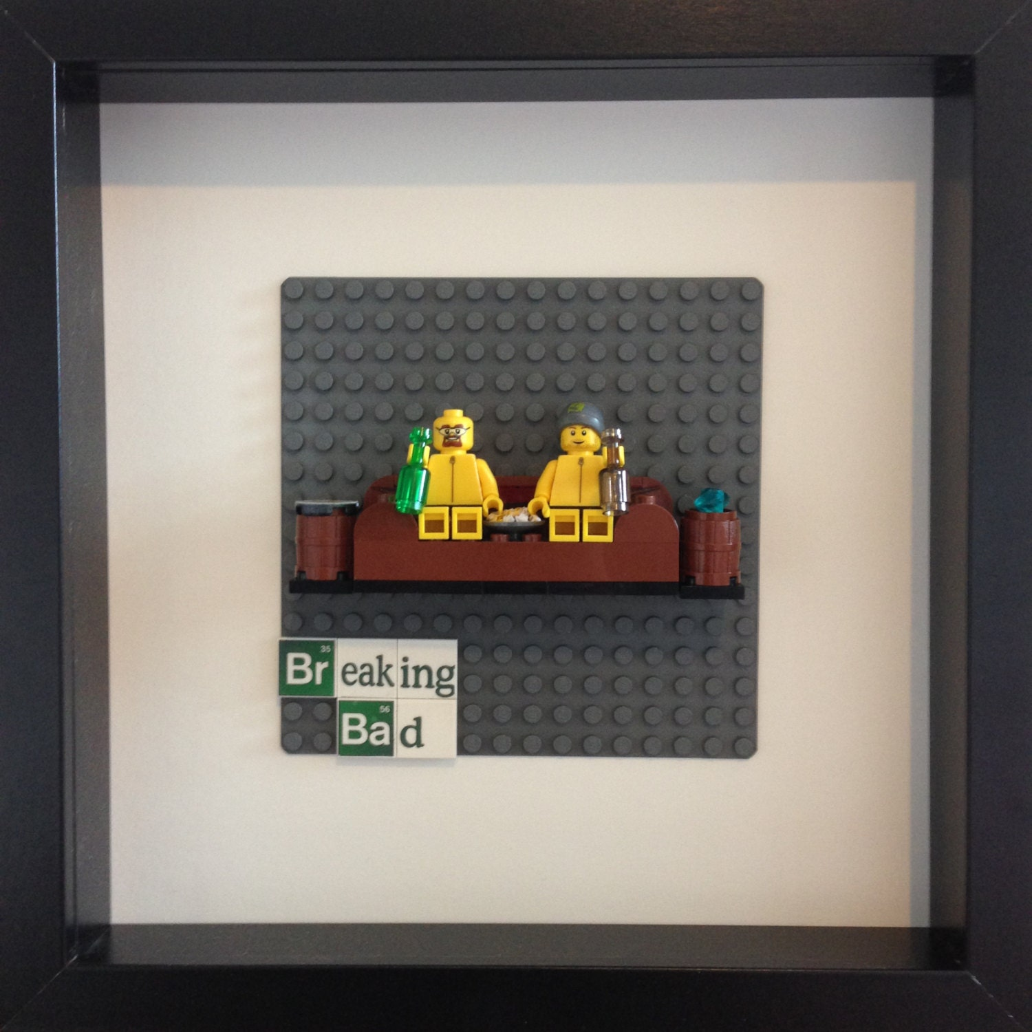lego breaking bad framed wall art minifigures. Black Bedroom Furniture Sets. Home Design Ideas