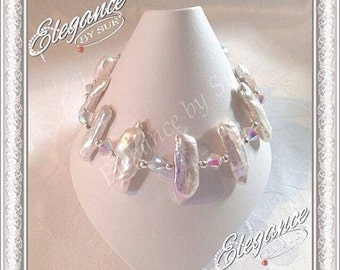 Biwa Freshwater Pearl Beacelet