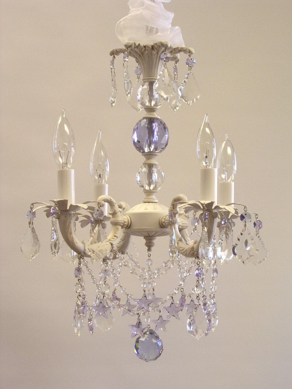shabby chic cottage style mini chandelier sugar
