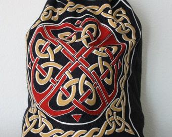 Gold Celtic Knot Backpack
