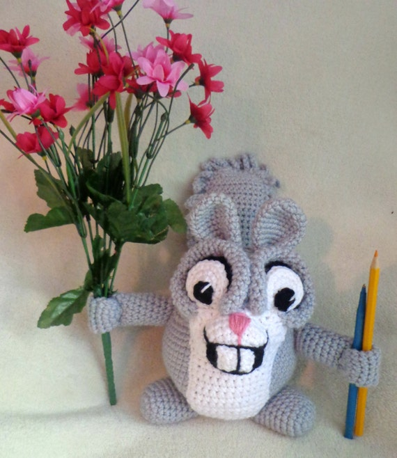 Amigurumi Bunny Pencil Holder : Crochet pattern only handy helpers beaver squirrel