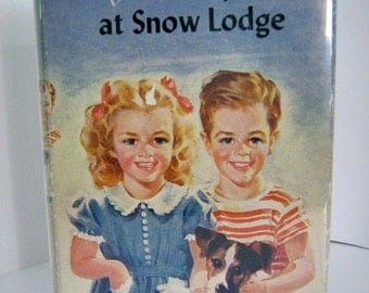 The Bobbsey Twins at Snow Lodge, by Laura Lee Hope - Grosset & Dunlap, 1941