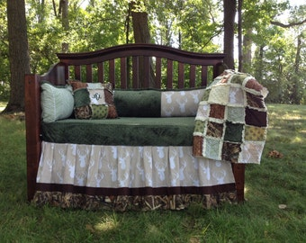 BUCKS, TRACKS & RUBS™ Custom Baby Bedding and Nursery Sets - hunting baby bedding, camo baby bedding, deer baby bedding, design your own