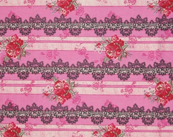 Rose and Laces Micci Collection by Yuwa Half yard
