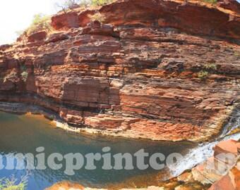 Panoramic, Landscape photography, Australian photography, Panoramic print, Panoramic landscape, Pilbara swimming hole,