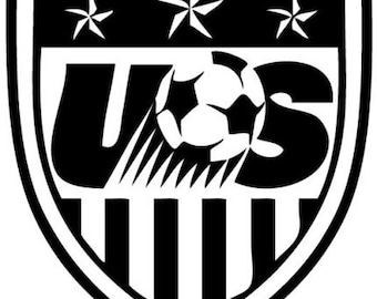 """4"""" Team USA Soccer FIFA Custom Vinyl Decal"""