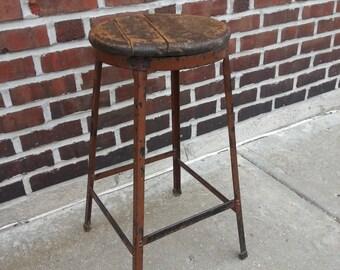 vintage 1950s industrial stool