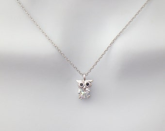 Dainty, Cubic, Owl, Gold, Silver, Necklace, Cute, Tiny, Dainty, Bird, Animal, Jewelry, Gift, Accessory, Jewelry