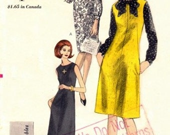 Vogue 6166 Shift-Dress or Blouse & Jumper / ca. 1964 / SZ16 UNCUT