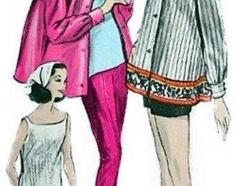 Vogue 5885 Sublime Shirt, Overblouse, Pants & Shorts / ca. 1963 / SZ12 UNCUT