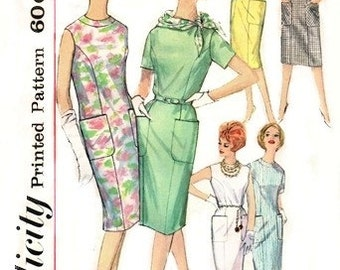 Simplicity 4382 Sensational One-Piece Dress 1962 / SZ12 UNCUT