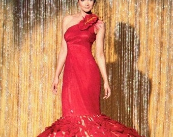 Simplicity 1737 Hot Tamale Lady in Red Costume Dress 2012 / SZ4-12 UNCUT
