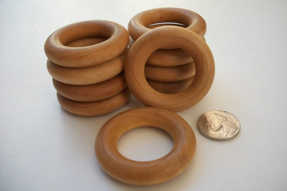 Natural maple 1 3 4 inch wood rings for crafts rattles baby for Wooden rings for crafts