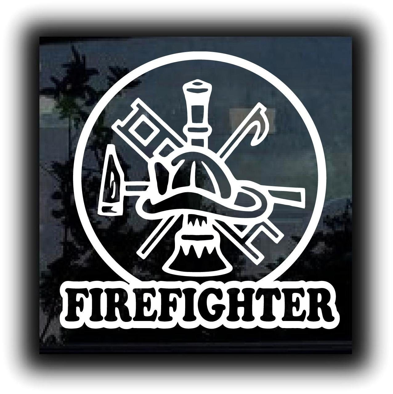"Firefighter Crest Custom Decal Sticker 5.5"" Inch"