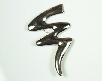 Absract Lightning Bolt Brooch