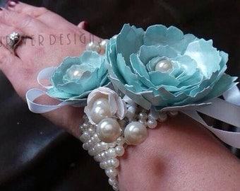 Handmade paper flower corsage
