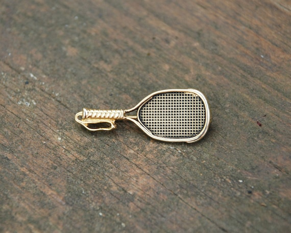 Tennis Racket Brooch Pin Vintage 1980s by WhiteFlyVintage ...