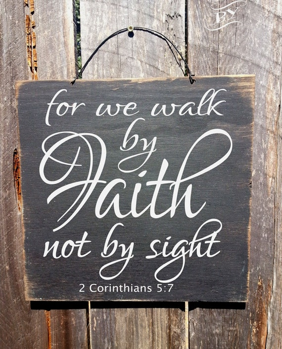 Faith Decor Christian Decor Bible Verse Sign Faith Sign