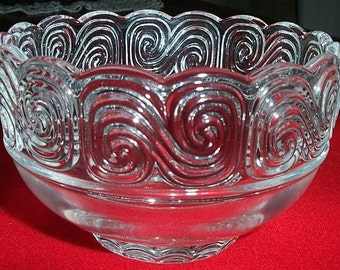Signed Louis Comfort Tiffany Crystal Bowl
