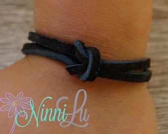 Suede Bracelet, Boy bracelet, girl bracelet, adult bracelet,toddler bracelet, baby bracelet, leather bracelet,boy jewelry