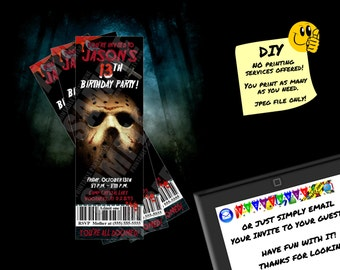 BIRTHDAY TICKET INVITATION Printable Invite. Emailable Invite