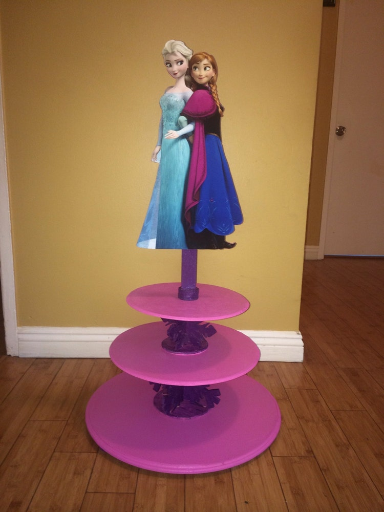 disney wedding cake stand disney s frozen cupcake stand frozen elsa by 13589
