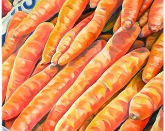 carrots at the market - carote - vegetable - orange color