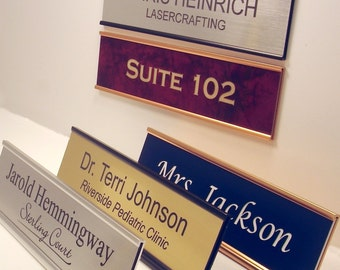 "Personalized Office Name Plate With Holder (2""x8"")"