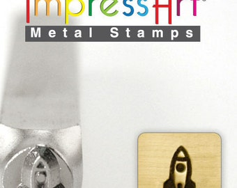 Rocket Ship ImpressArt Metal Design Stamp 6mm
