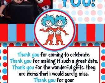 Dr Seuss Thank You Card