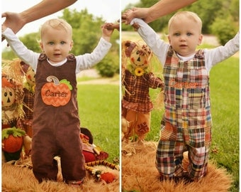 Reversiable Brown Cord Pumpkin Longall,Madris plain mongram longall,Applique Embroidered Jon Jon Shortall Longall