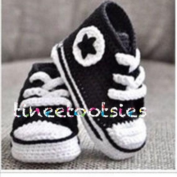 b98ad058c74ec chaussures de bébé crochet converse - Akileos
