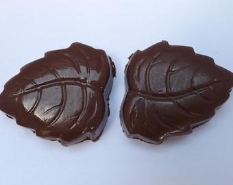 Nutella Filled Milk Chocolate Leaves