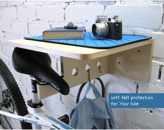 Bike wall mount, Bicycle Shelf, Bike furniture