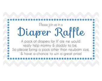 Customizable Baby Shower Diaper Raffle Ticket For