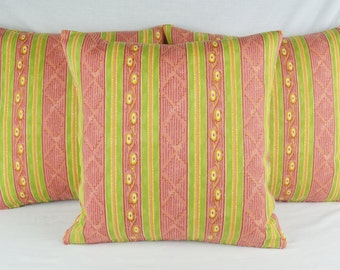 Tiffany by Sheila Coombes Cushion Cover 41cm x 41cm Red Pink & Lime Green