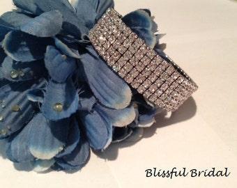 Crystal Cuff Bracelet, Wedding Bracelet, Swarovski Cuff Bracelet, Bridal Bracelet, Bracelet for Bride, Swarovski Crystal Cuff