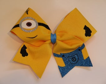 Yellow minion SMALL Size bow.  Great for keychains or younger kids