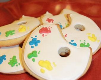 painters pallet cookies
