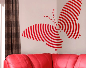 Butterfly Target Wall Decal Art Home Decor Vynil Office Living Room Front Desk Children Kids room