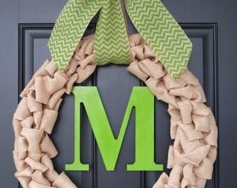 Decorative Burlap Door Wreath