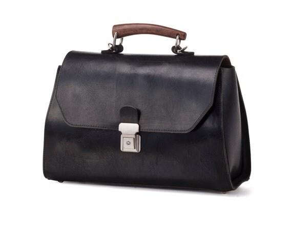 Black Messenger Bag / Leather Tote Bag / Women Purse / Men Office Bag / Cross Body Bag / Every Day Bag / Classic Bag / Shoulder Bag - Ivory