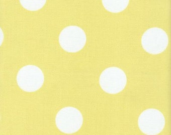 Polka Dot Fabric Yellow & White Indoor Outdoor Fabric