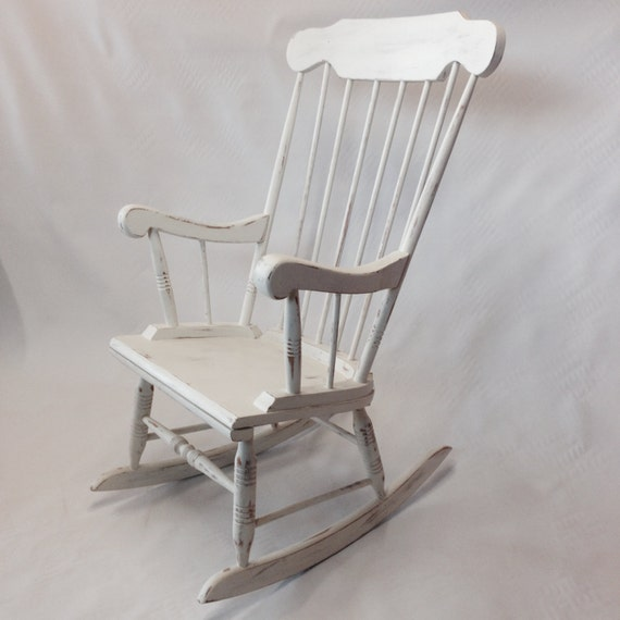 Vintage, Shabby Chic Rocking Chair. Painted in Two Coats of Annie ...