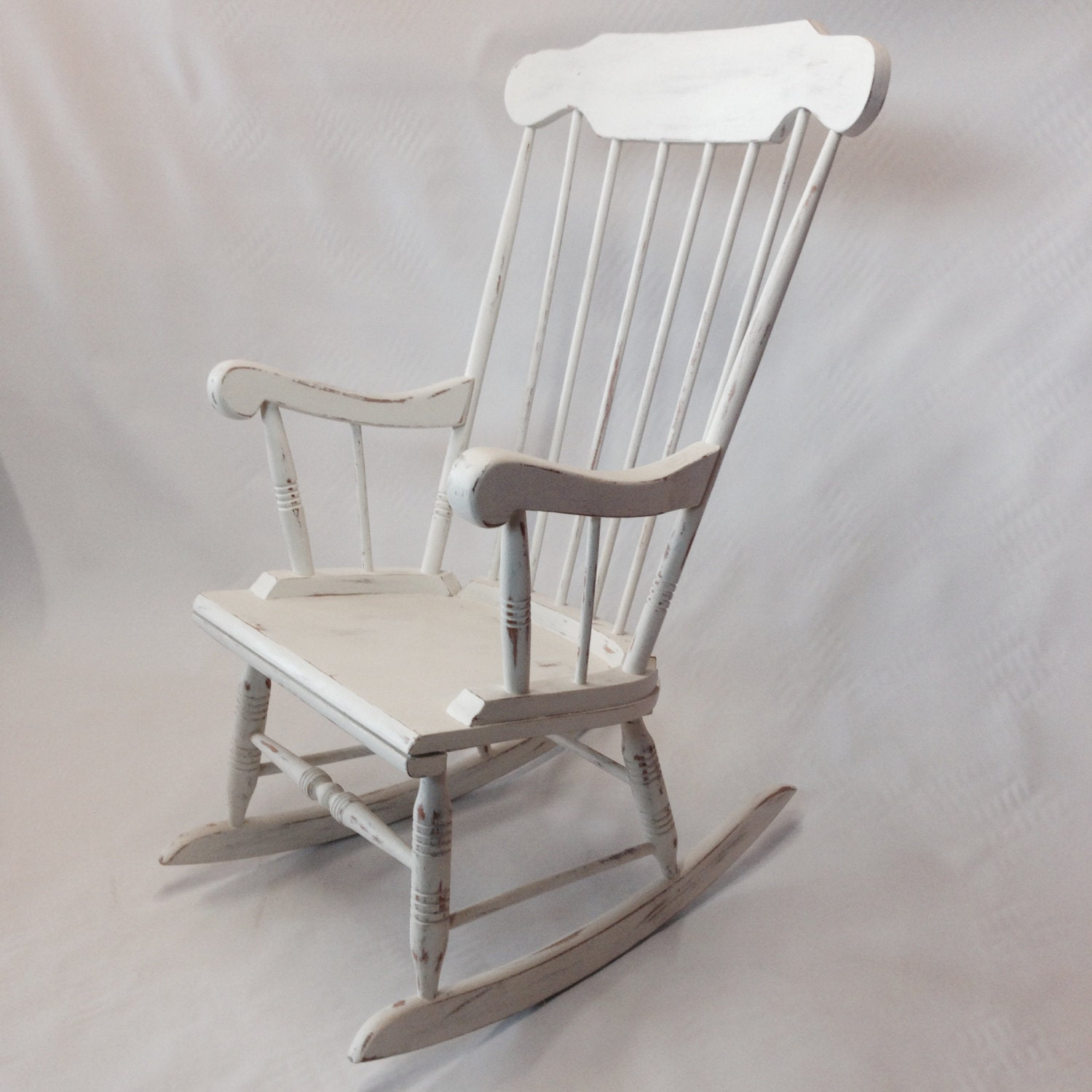 Shabby chic painted rocking chairs -  Shabby Chic Rocking Chair Painted In Two Coats Of Annie Sloan Chalk Paint Zoom