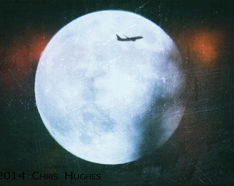 Full Moon Photography, Moon Photography, Night Photography, Airplane Photography, Passing Through