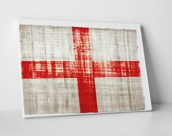 Vintage England Flag Gallery Wrapped Canvas Print